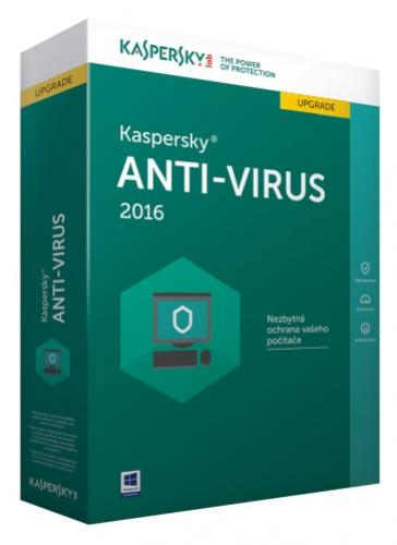 Kaspersky Anti-Virus 1+1 PC/1rok Upgrade